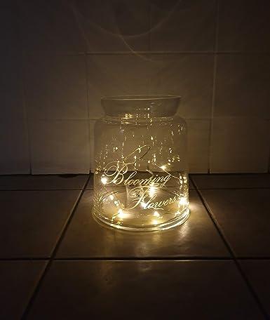 Drahtlichterkette 100 LEDs warmweiß Silberdraht Beleuchtung Dekoration Lichter