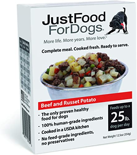 JustFoodForDogs Pantry Fresh Dog Food – Human Grade Ingredients Ready to Serve Adult Dog Puppy Food