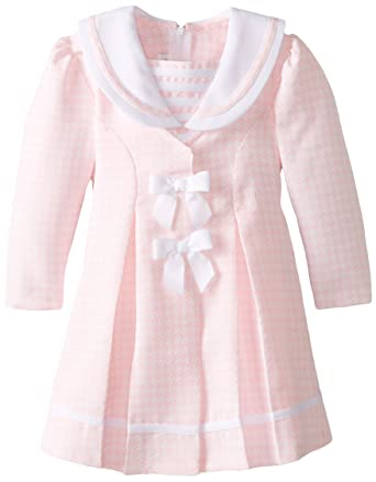 Amazon.com: Bonnie Jean Little Girls' Pink Check Coat and Dress ...