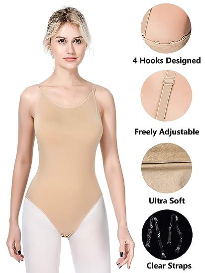 1613cd0b0e0 MOLLDAN Women Undergarments for Girls Dance Ballet Leotard Camisole  Seamless Dancewear Beige Adult Gymnastics Underwear with