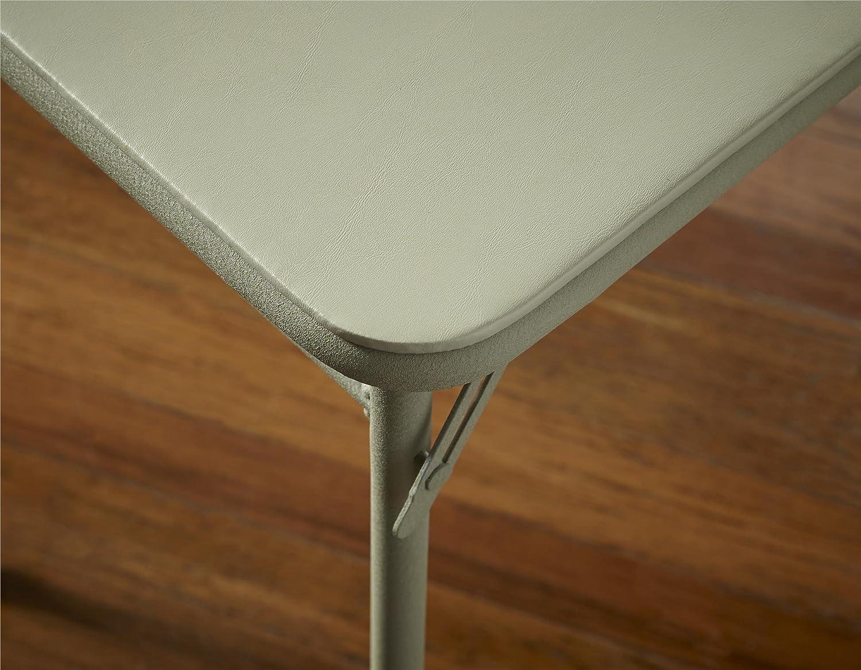 Cosco 14341ANT1E Folding Serving Table, 20 x 48-Inch, Antique Linen
