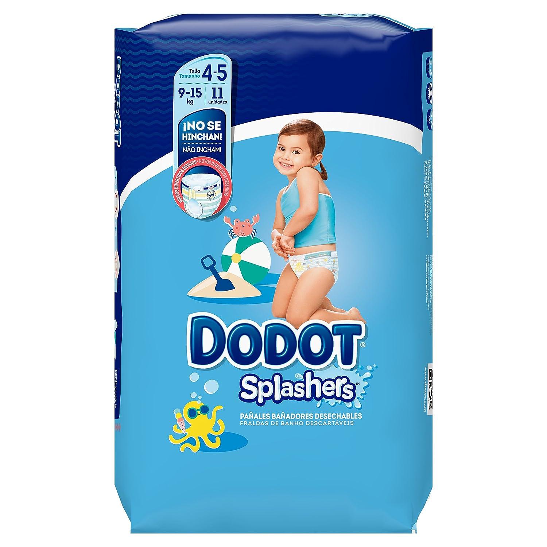 Dodot Splashers - 11 Pañales Bañadores Desechables, 9-15 kg, No Se Hinchan Y Fácil de Quitar, Talla 4: Amazon.es: Amazon Pantry
