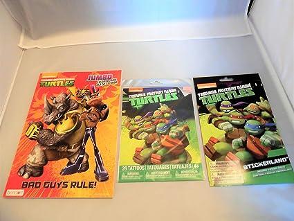 Amazon.com: Teenage Mutant Ninja Turtles Tattoos, Stickers ...