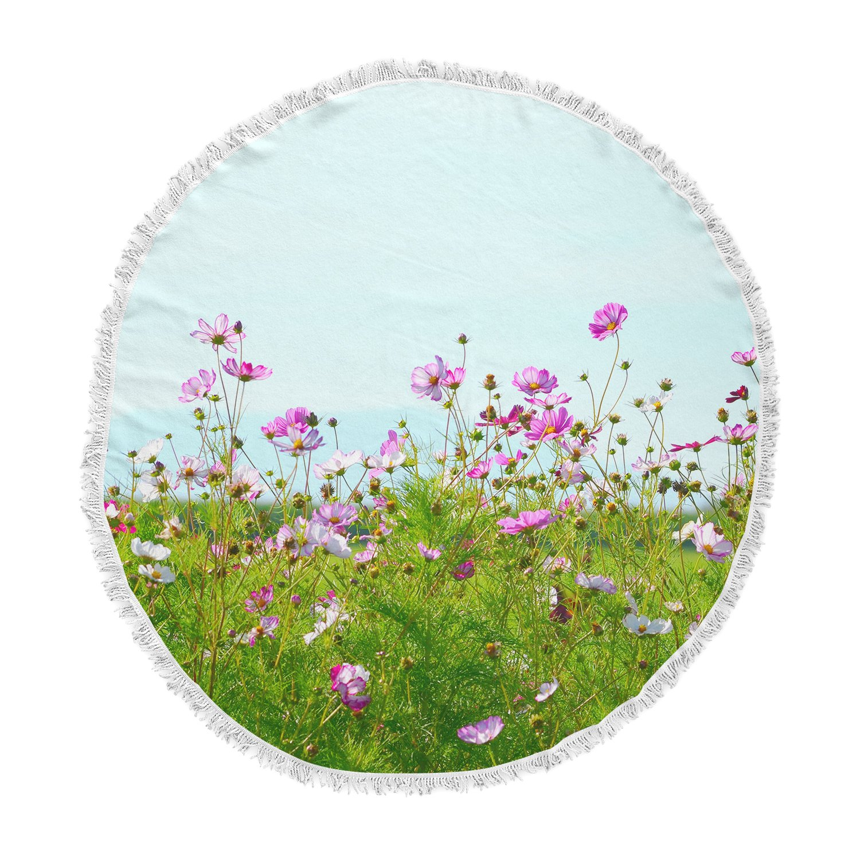 Kess InHouse Robin Dickinson I Choose Magic Flowers Round Beach Towel Blanket
