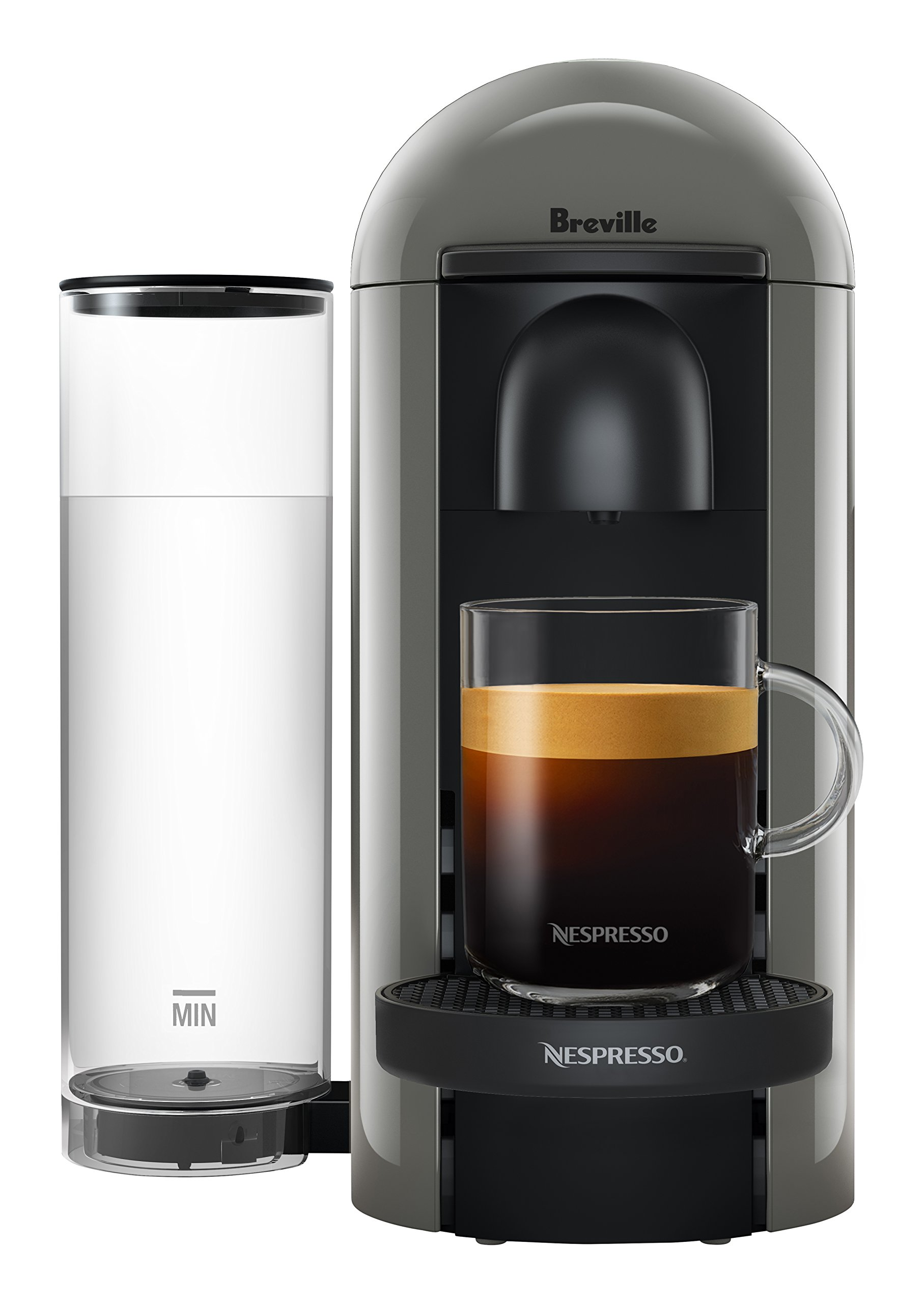 Nespresso VertuoPlus Coffee and Espresso Maker by Breville, Grey