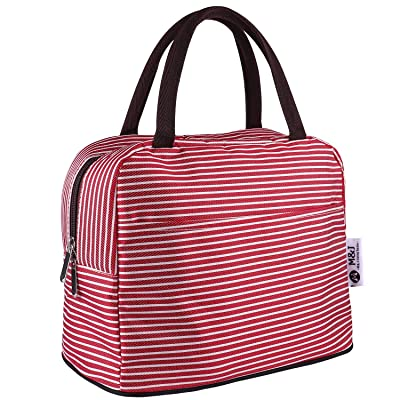 Lunch Bag Tote Bag Lunch Organizer Waterproof Lunch Holder Lunch Container Insulated Lunch Cooler Bag for Women/Men (pink): Kitchen & Dining