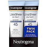 Neutrogena Protector solar ultraclaro de factor de protección de 45, paquete doble de 177 ml (6 oz)