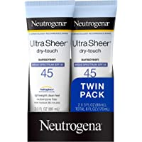 Neutrogena Ultra Sheer Dry-Touch Water Resistant and Non-Greasy Sunscreen Lotion with Broad Spectrum SPF 45, TSA…