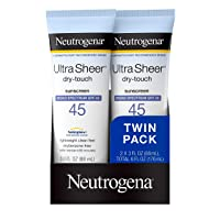 Neutrogena Ultra Sheer Dry-Touch Water Resistant and Non-Greasy Sunscreen Lotion...