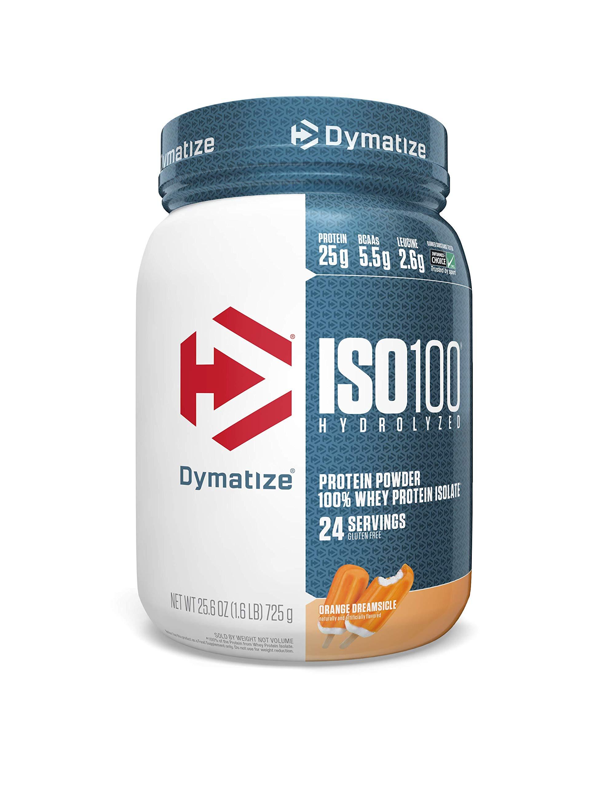 Dymatize Whey Protein Powder with 25g of Hydrolyzed Gluten Free, Orange, 1.6 Pound