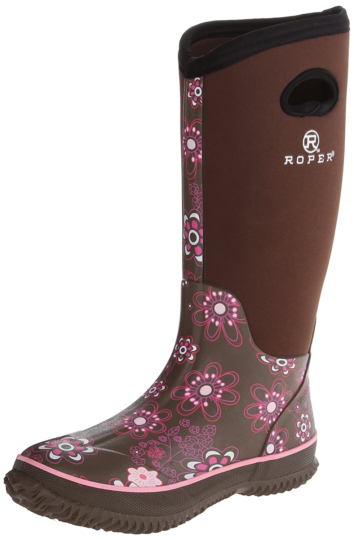 Roper Women's Barnyard Prints Rain Shoe B007M2EOK6 7 B(M) US|Brown