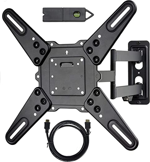 VideoSecu ML531BE2 TV Wall Mount kit with Free Magnetic Stud Finder and HDMI Cable for Most 26-55 TV and New LED TV up to 60 inch VESA 400×400 Full…