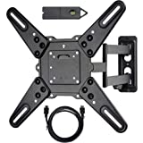 VideoSecu ML531BE2 TV Wall Mount kit with Free Magnetic Stud Finder and HDMI Cable for Most 26-55 TV and New LED TV up to 60