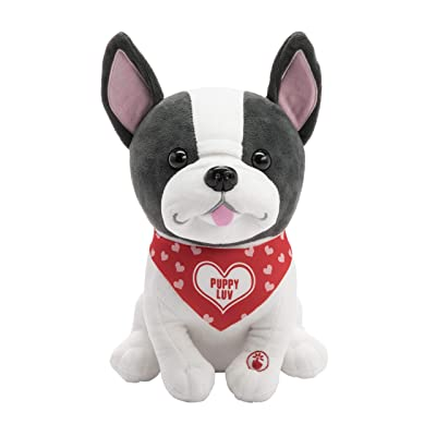 Hallmark French Bulldog Stuffed Animal, Sings Snuggly & I Know It.: Toys & Games