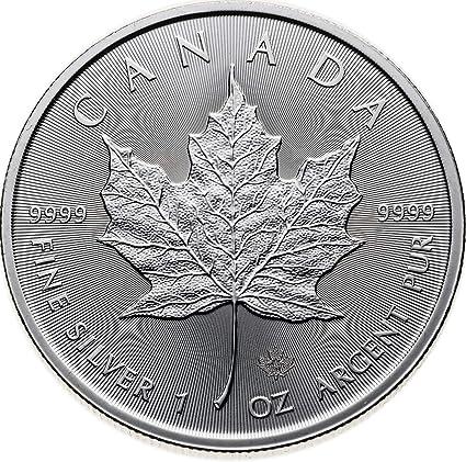 2013 Canada Maple Leaf 1 Oz 25th Anniversary .9999 Fine Silver Bullion Coin $1