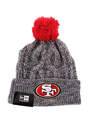 2be53eac338 New Era San Francisco 49ers Beanie One Size Graphite Red  Amazon.co ...