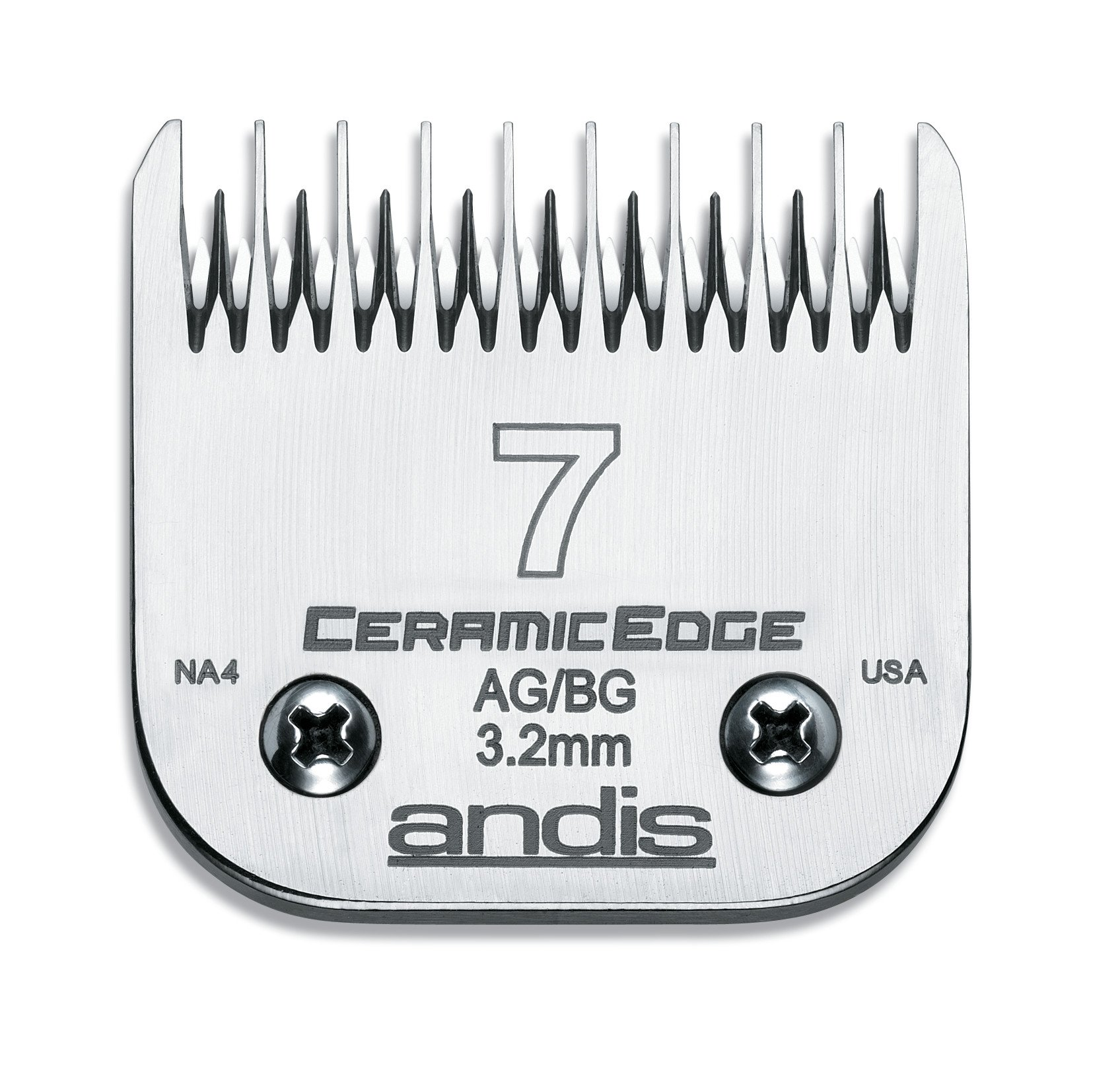 Andis CeramicEdge Carbon-Infused Steel Pet Clipper Blade, Size-7, 1/8-Inch Cut Length (64245)