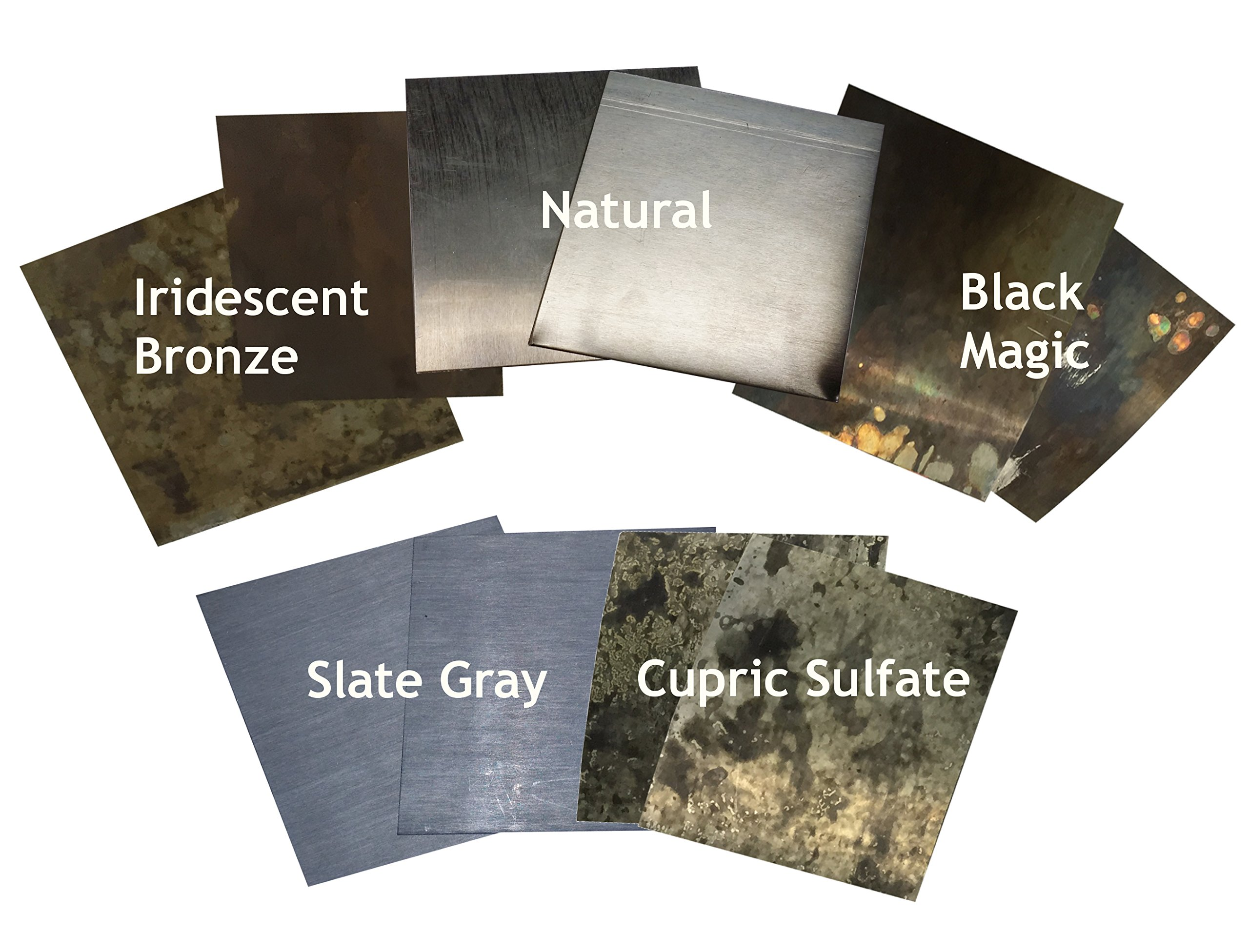 Zinc Sheet Sample Pack for Counter Tops, Table Tops
