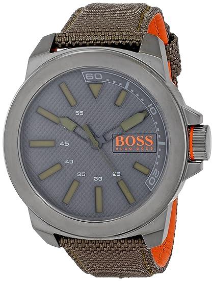 Boss Naranja Hombre 1513009 York analógico Pantalla Cuarzo Verde Reloj: Hugo Boss: Amazon.es: Relojes