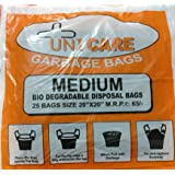 Unicare Biodegradable Garbage Dustbin Bags Medium (Size 20 inch x 20 inch) - 125 pcs (Pack of 5)