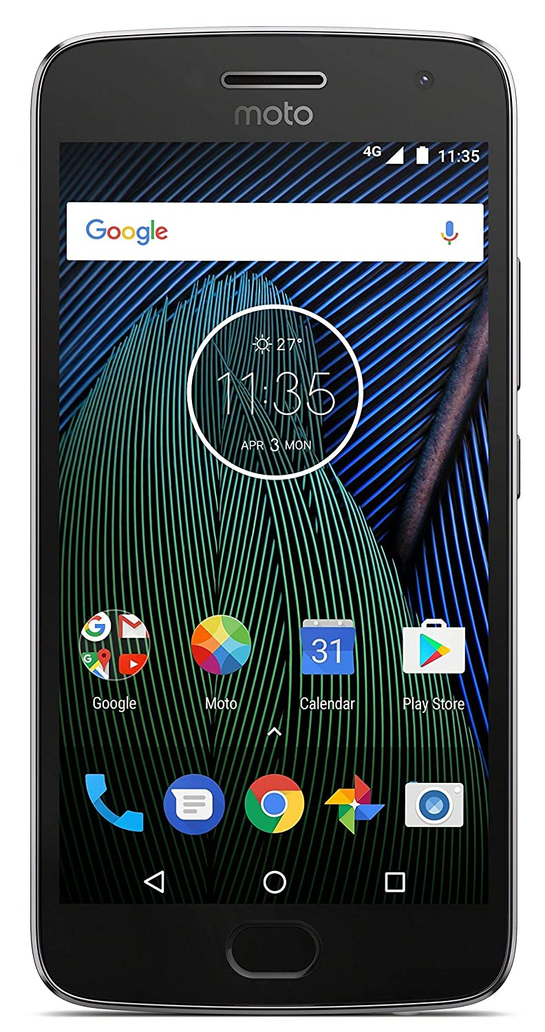(Renewed) Moto G5 Plus XT1686 (Lunar Grey, 32GB)