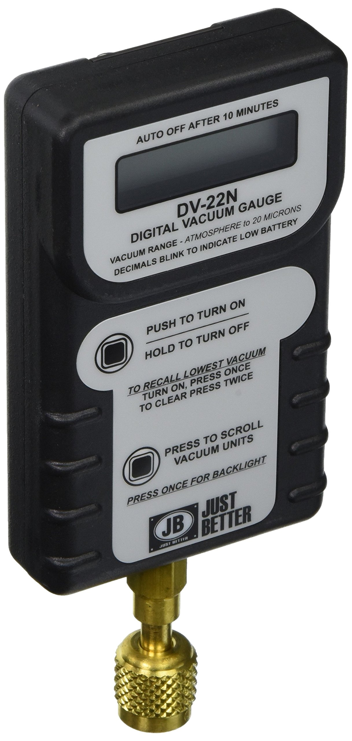 Jb Industries DV-22N Leak Proof Digital Vacuum Gauge