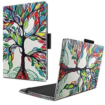 Amazon In Buy Infiland Lenovo Yoga Book Case Lenovo Yoga Book 2016 Folio Pu Leather Elegant Super Thin Smart Cover Case For Lenovo Yoga Book 2016 10 1 Inch Tablet Happy Tree Online