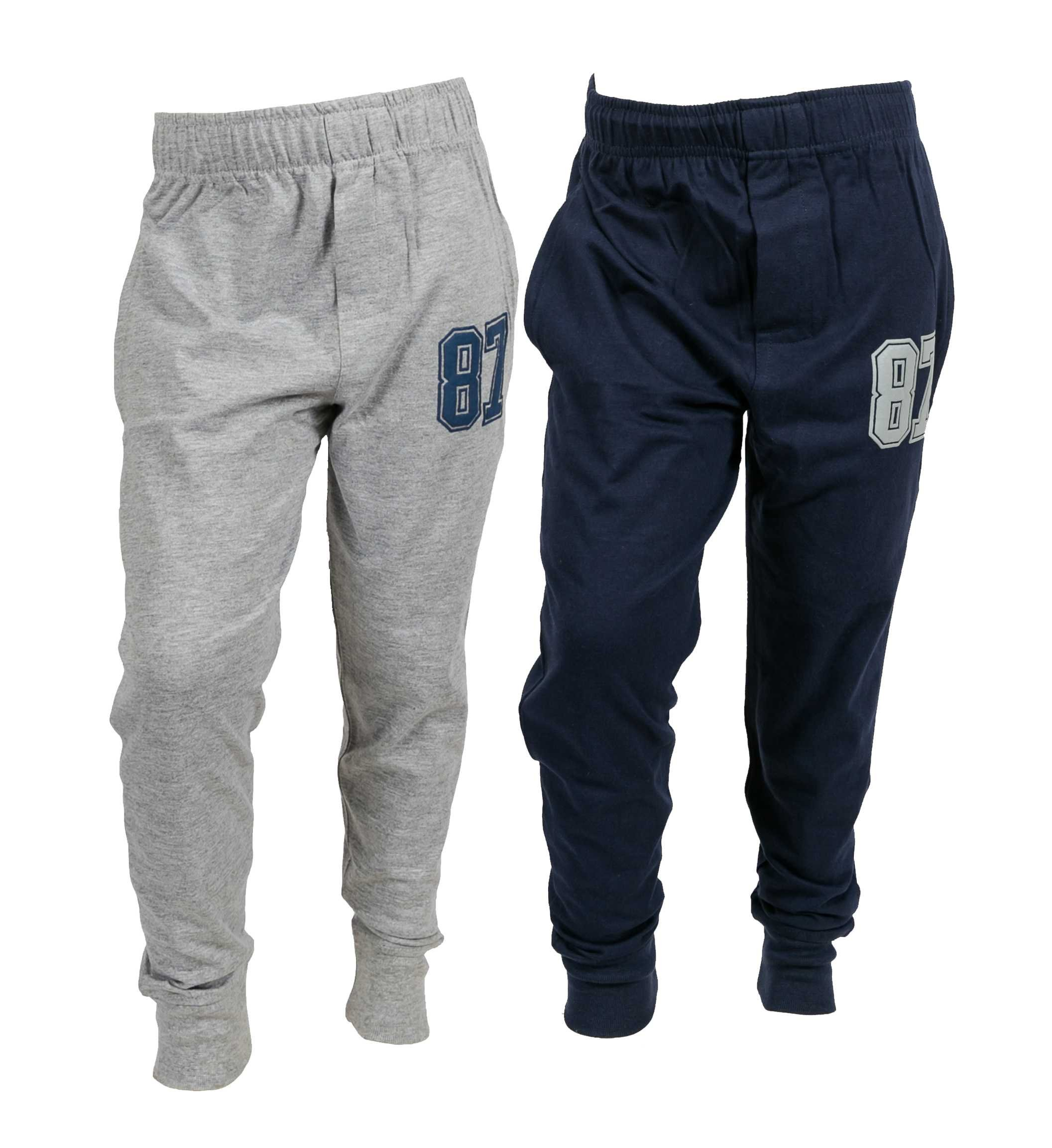 chopper club Pack of 2 Track Pant for Boys 7-8 Years Smart Set of 2 Joggers Navy+Grey US8