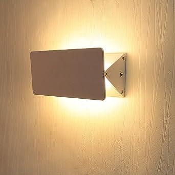 BAYTTERR Design 6W LED Wandleuchte Verstellbar Wandlampe Flurlampe Warmweiss 450 Lumen Aus Aluminium Fr Schlafzimmer
