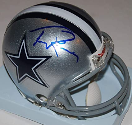 a5f8b8db7e6 Tony Romo Autographed Helmet - mini W COA - Autographed NFL Mini Helmets