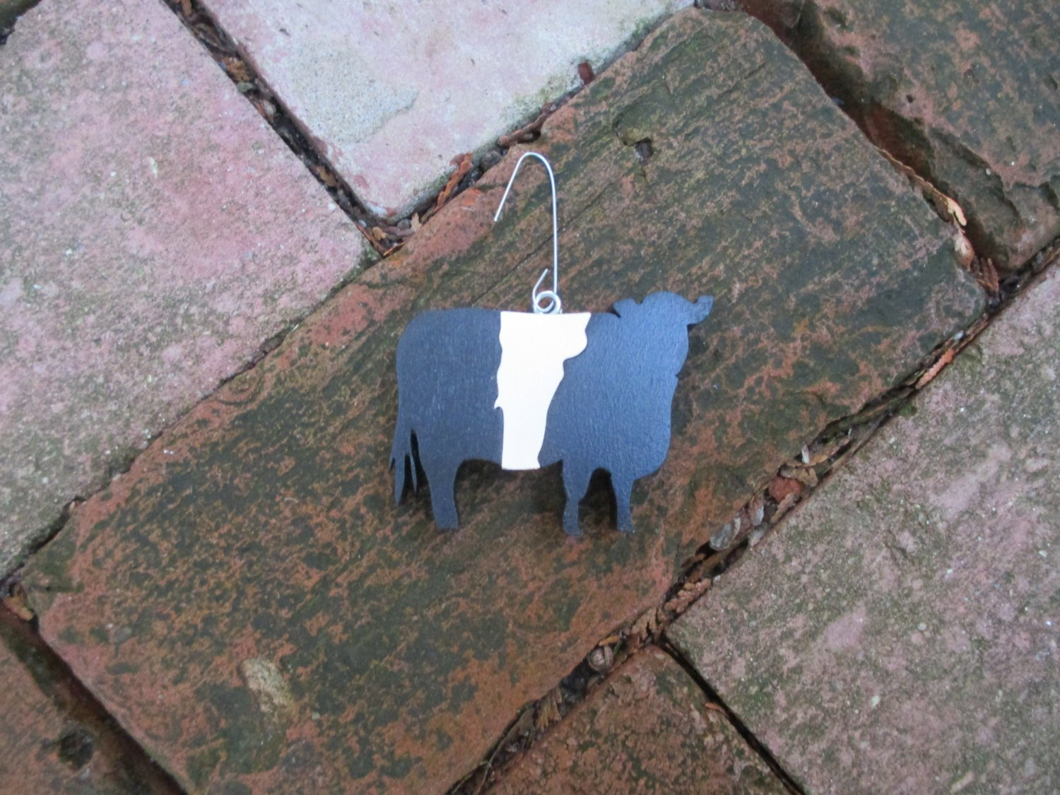 Belted Galloway ornament - Cow Ornament - Christmas Tree Cow Ornament - Belted Galloway Magnet - Vermont Ornament - Vermont Magnet - Holiday