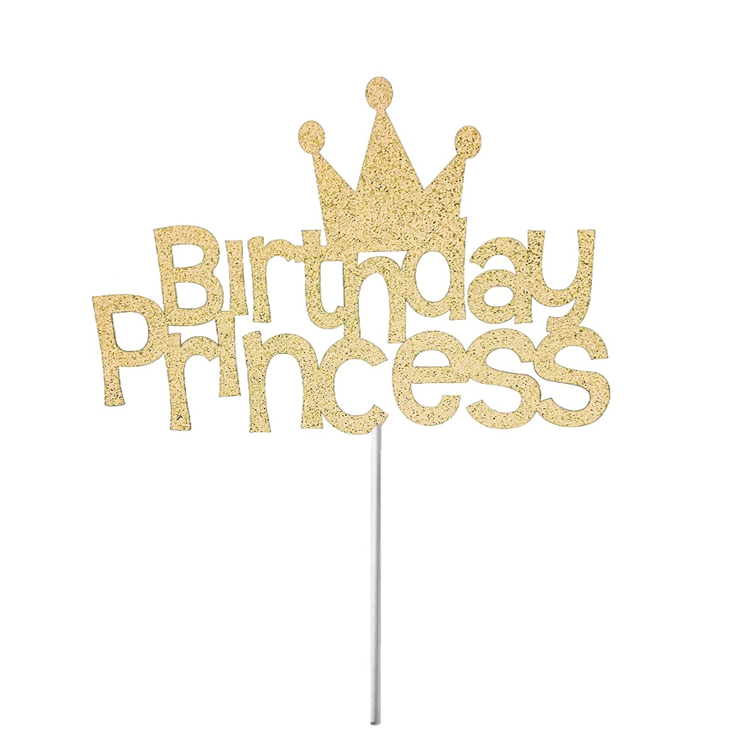 Pleasing Birthday Princess Cake Topper Happy Birthday Cake Topper Glitter Personalised Birthday Cards Paralily Jamesorg