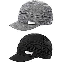94c039983c7 SATINIOR 2 Pieces Women Newsboy Cabbie Cap Beret Hats Cap Bamboo Baseball  Cap Hair Loss