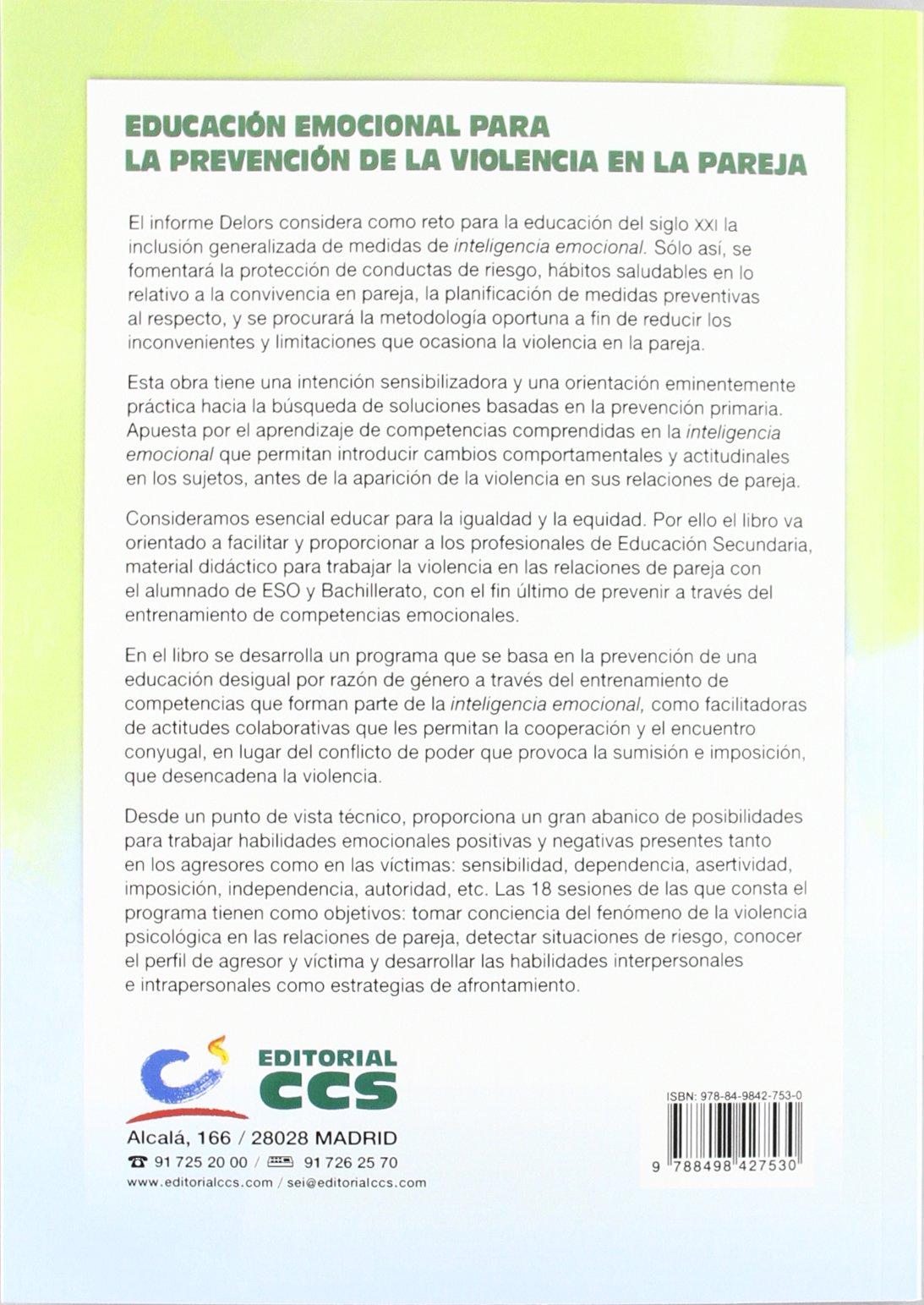 Educación emocional para la prevención de la violencia en la pareja Materiales para educadores: Amazon.es: Vv.Aa.: Libros