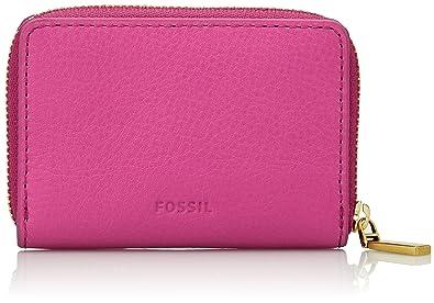 Fossil Mini Zip, Porte-cartes d'identité (Card Cases) femme, Pink (Hot Pink), 1.91x7.01x10.16 cm (B x H T)