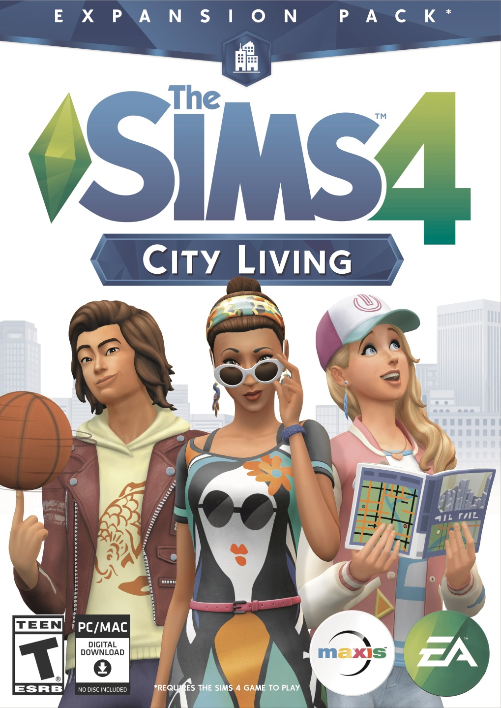 The Sims 4 City Living [Online Game Code] (Sims 4 Cats And Dogs Expansion Pack)