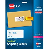"""Avery Shipping Labels with TrueBlock Technology 2"""" x 4"""", Pack of 100 (18163)"""