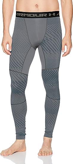 New Under Armour UA ColdGear Jacquard Compression Men's Leggings Medium 1301582