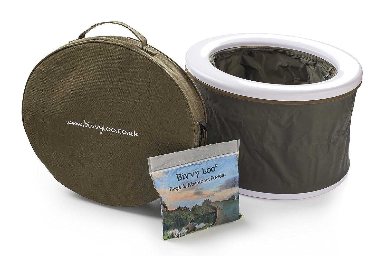 Bivvy Loo - Camping Toilette - portable toilette - camping wc toilette - zusammenklappbar – Unterstützt über 23 Stein