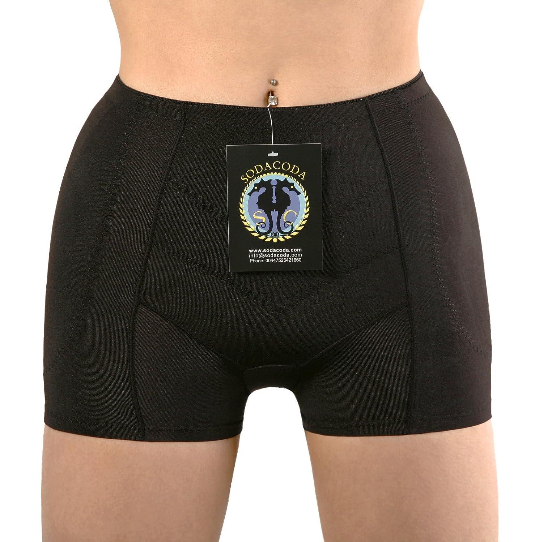 Sodacoda Boyshort Foam Padded Hip Enhancers with Tummy Control Midrise Style (XS-XL)
