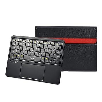 LEICKE Sharon | Funda con teclado inalámbrico para Samsung Galaxy Tab 4 10.1 con funciones Multitouch