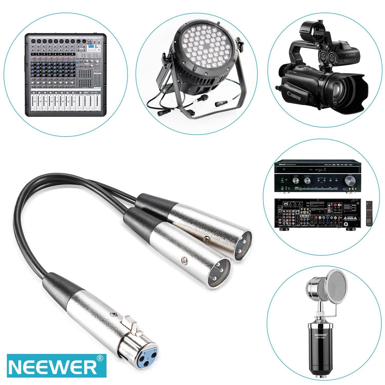 Schema Collegamento Xlr : Neewer® 15 2 cm xlr femmina a doppia xlr maschio splitter audio cavo