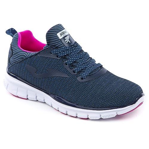 Joma - Zapatillas de Nordic Walking de Sintético para Mujer Negro 36 EU: Amazon.es: Zapatos y complementos