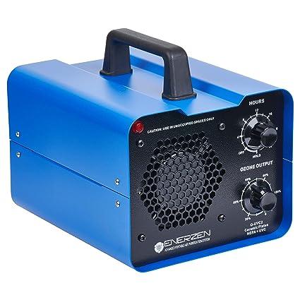 Enerzen Commercial Ozone Generator Industrial O3 Air Purifier Deodorizer  Sterilizer (O-UVC2 2 Ozone Plates)
