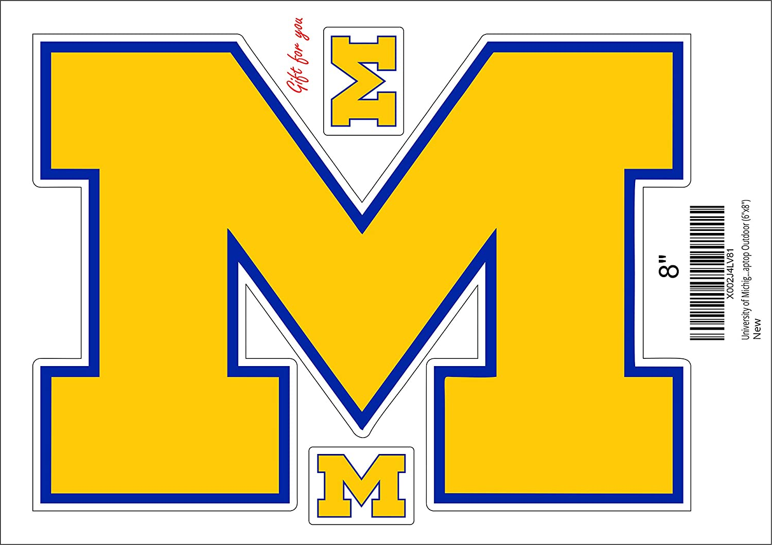 University of Michigan Vinyl Stickers Wall Art //Any-Size//Football Michigan Wolverines Stickers Car Laptop Outdoor