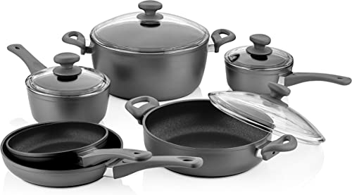 Saflon Titanium Nonstick 10 Piece Cookware Set