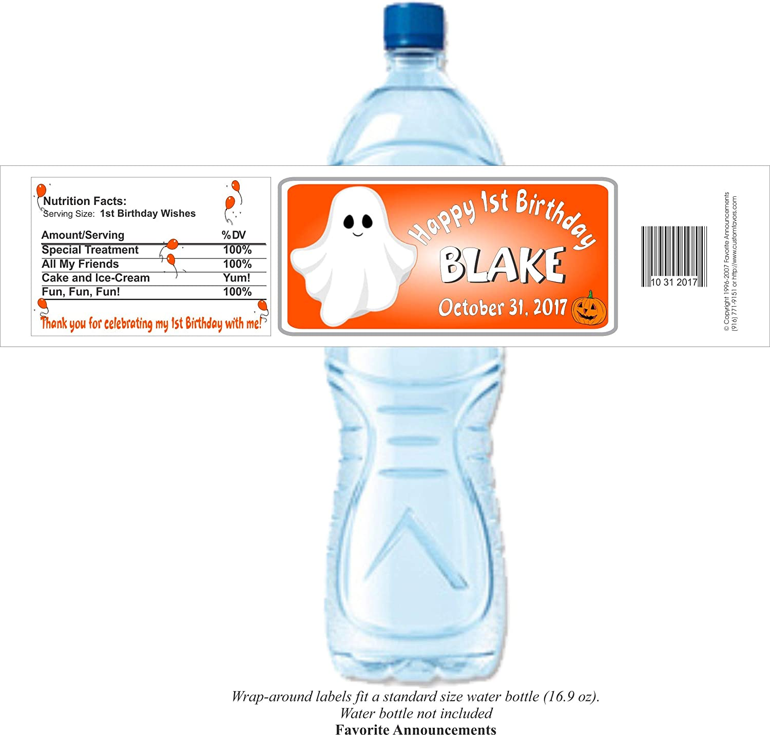 Amazon com: Halloween Water Bottle Labels (set of 24)(Yh133