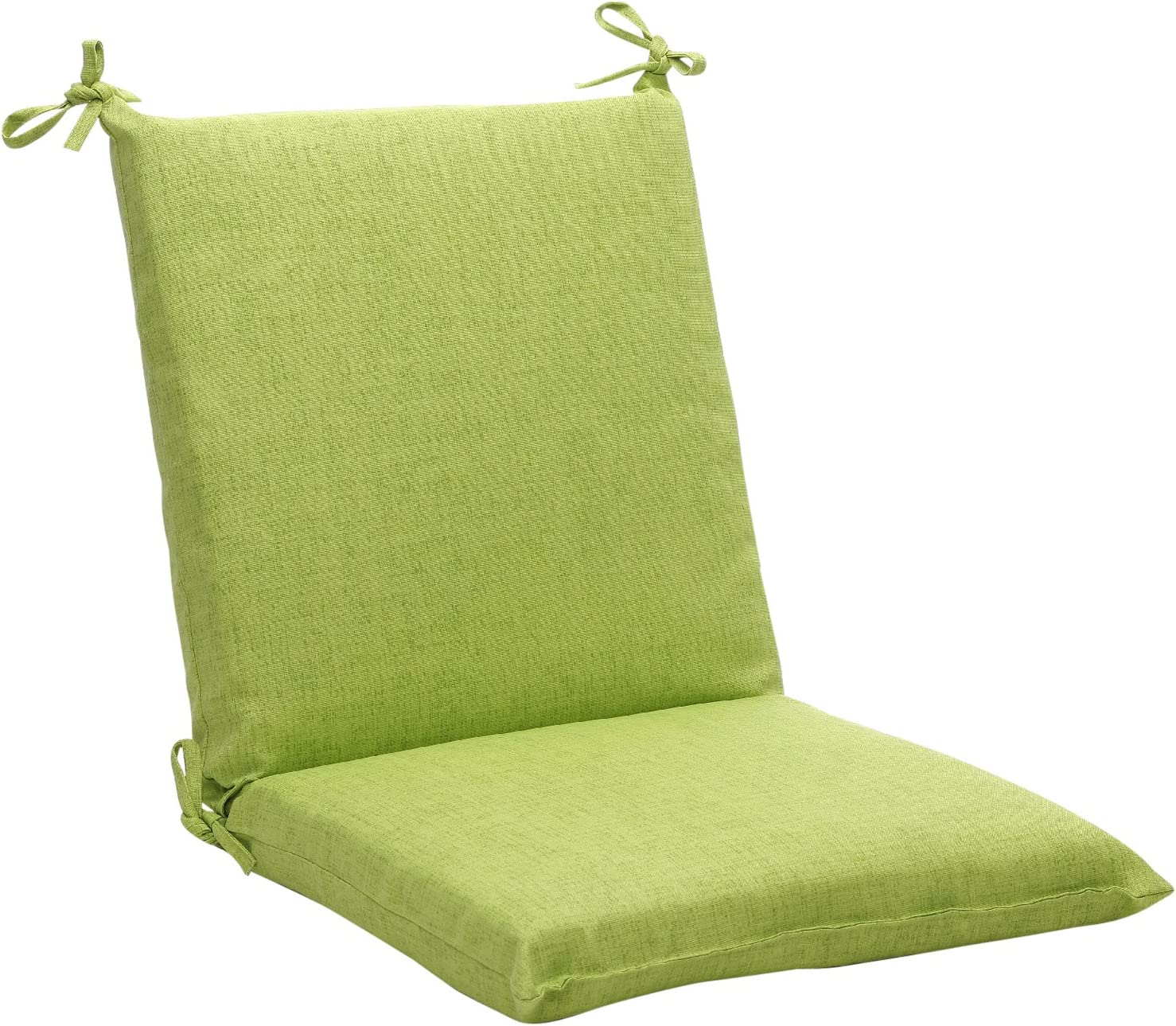 Pillow Perfect Indoor Outdoor Green Textured Solid Square Chair Cushion