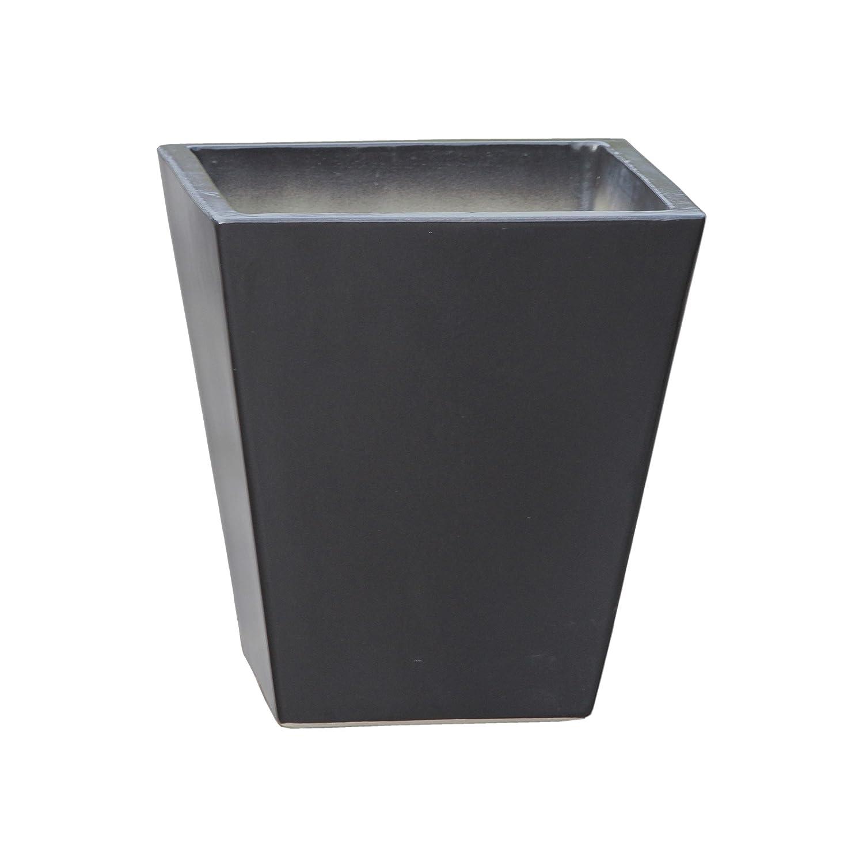 Großer Pflanztopf Pflanzkübel eckig frostsicher Größe L 40 x B 40 x H 42 cm, Farbe Anthrazit, Form 242.042.70 Pflanzkübel quadratisch Qualität von Hentschke Keramik