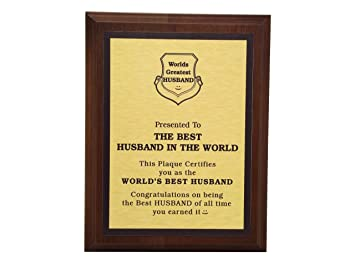 Amazoncom Aahs Engraving Worlds Greatest Plaques Best Husband In